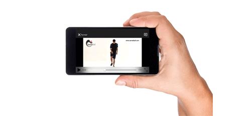 Aplicatie mobila pentru minge de antrenament SenseBall